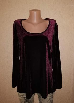 Красивая женская велюровая, бархатная кофта, блузка, джемпер 16 р. a. h. exclusive