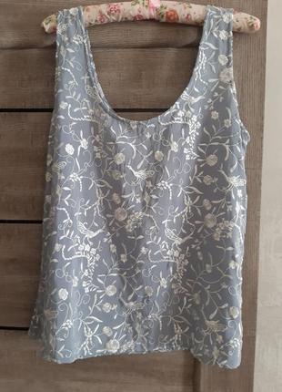 Эксклюзивный топ,майка,блуза шелк натуральный