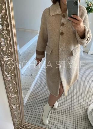 Прекрасная натуральная 100% шубка пальто из овчины