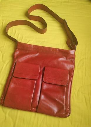 Criz swiss оригинал кожаная сумка мужская красная барсетка кроссбоди через плечо