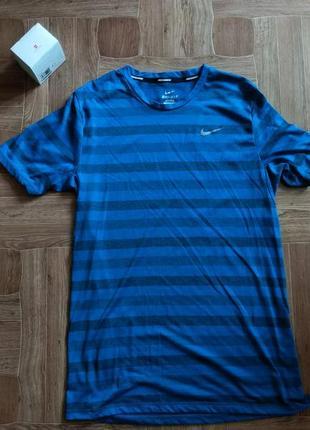 Футболка nike dri-fit running blue