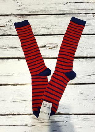 Теплые махровые носки гольфы гольфи полосатые в красную полоску как у ельфа 35-38