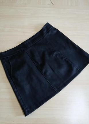 Фирменная кожанная юбка