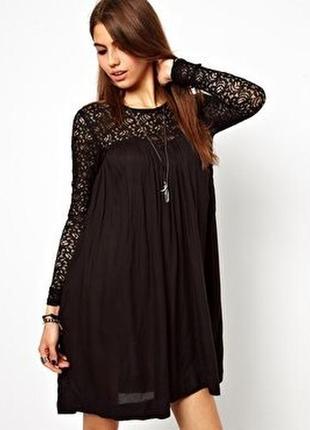 Вечернее кружевное платье плиссе с длинным рукавом кружево вискоза лёгкое religion