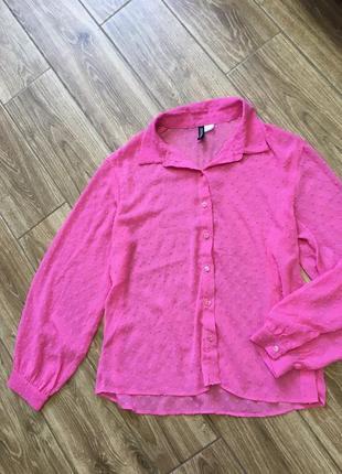 Красивая воздушная блуза, объемныме рукава в гусиную лапку от h&m