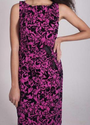 Розовое платье love moschino москино лето женское черное бархатное с поясом миди