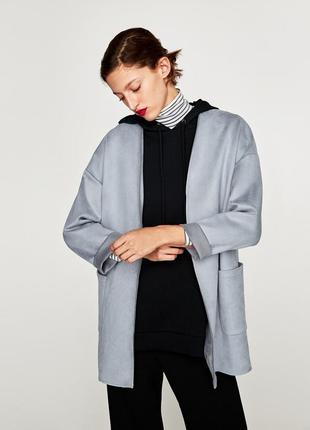 Пиджак кардиган жакет под замш от zara