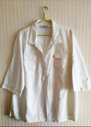 Рубашка лен + хлопок 52-54р.
