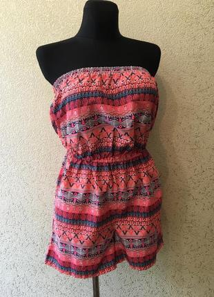 Чудесный яркий стильный летний сарафан с шортами/комбинезон