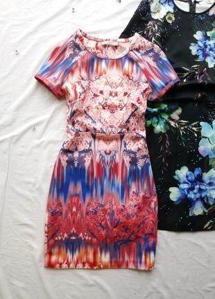 Яркое плотное платье zara