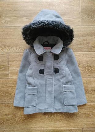 Girl 2 girl теплое демисезонное пальто р.104