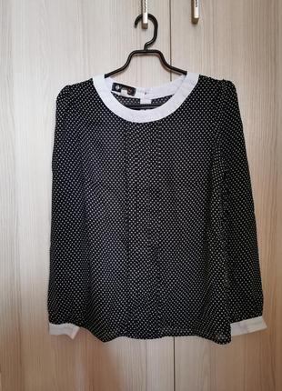 Красивая легкая романтичная блуза в горошек