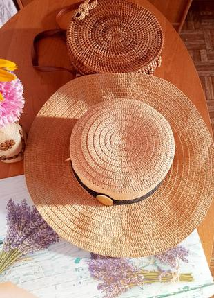 Шляпа шляпка канотье