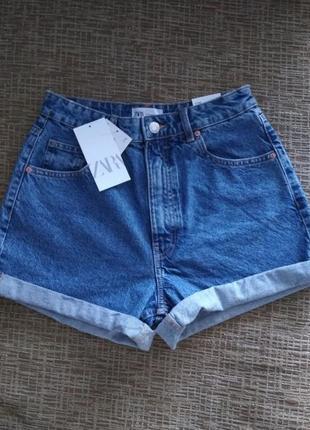 Джинсовые шорты zara джинсовые шорты мом момы