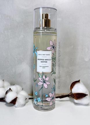 Мист (спрей) для тела bath and body works - whipped vanilla chiffon