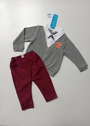 Комплект штани, светрик, бантик