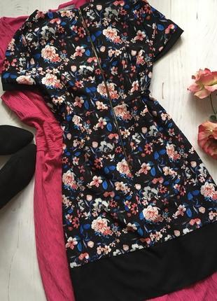 Яркое платье, цветочный принт