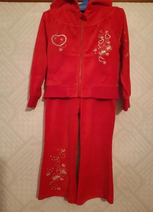 Велюровый спортивный костюм adams girl для девочки 4 лет.