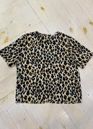 Футболка леопардова желто-черная