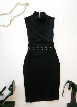 Офигенное платье с кольцами на талии h&m, плотная приятная ткань, в составе вискоза