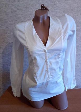 Распродажа! женская стрейчевая коттоновая рубашка блуза zara