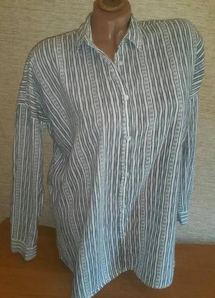 Распродажа! женская ультра тонкая коттоновая рубашка бренд moss copenhagen