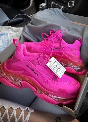 Шикарные женские кроссовки balenciaga в розовом цвете (36-40)😍