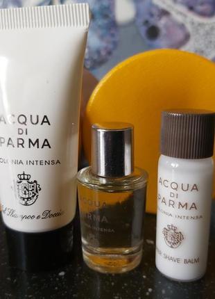 Acqua di parma, colonia intensa, набор миниатюр из sephora