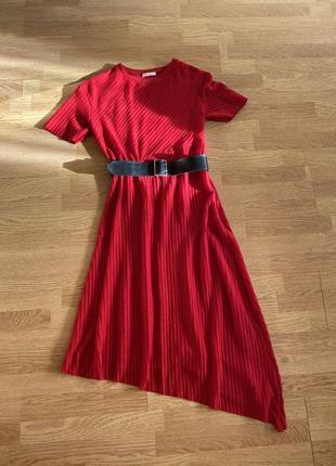 Ассиметричное платье zara