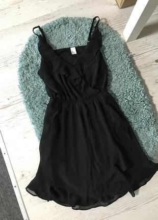 Платье с оборками на запах