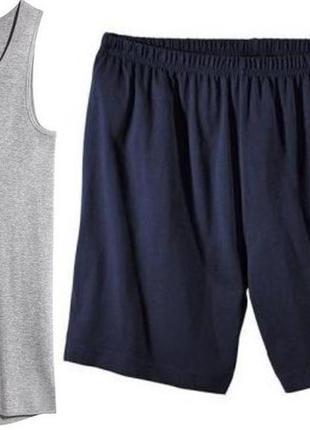 Редкий размер!мужской домашний комплект пижама,майка+шорты, livergy. размер 4xl