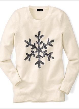 Свитер со снежинкой / большая распродажа