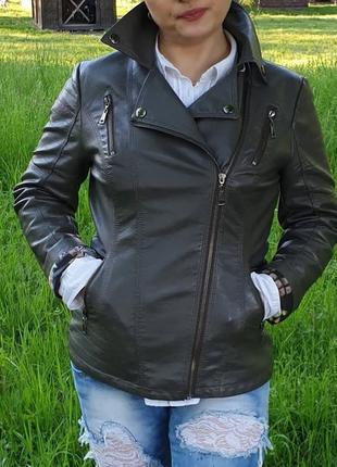 Кожанная куртка кожанка