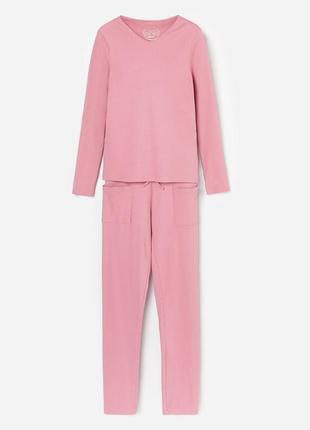 Пижамный комплект,домашний костюм для девочки из натурального материала