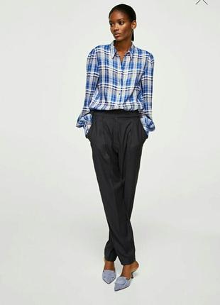 Новенькая блузка-рубашка mango из вискозы