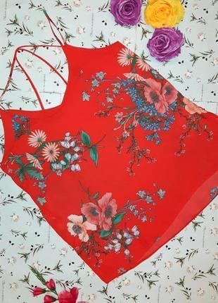 🎁1+1=3 стильная красная блуза блузка топ на бретелях dorothy perkins, размер 46 - 48