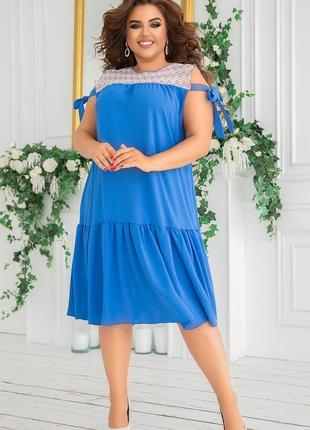 Платье свободный крой