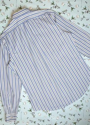 🎁1+1=3 белая рубашка в полоску с длинным рукавом ralph lauren оригинал, размер 48 - 504 фото