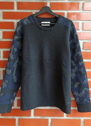 Calvin klein шерстяной свитер размер xl - xxl