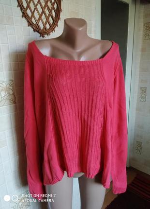 Натуральный пуловер, 52 размер