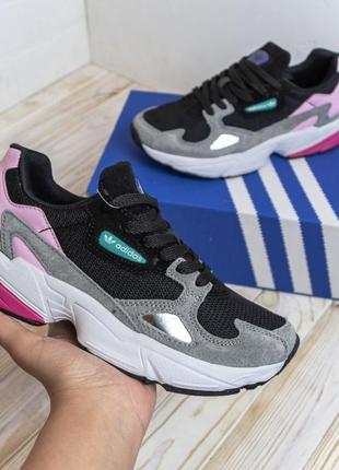 Женские кроссовки adidas falcon адидас весна осень лето