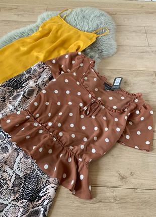 Новая блуза в горох