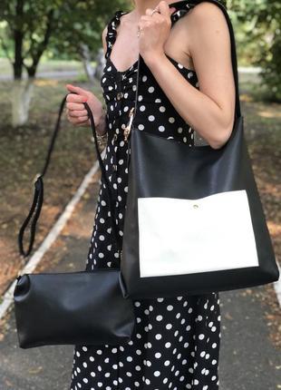 Сумка женская 2в1 kimberly boutique италия s01-0396 черная