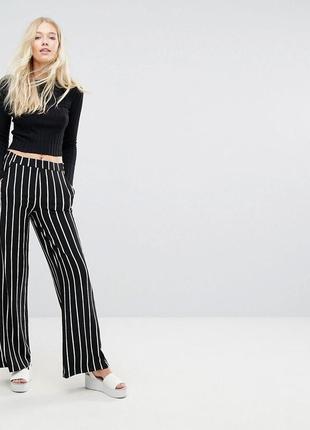 Стильные новенькие кюлоты брюки в полоску