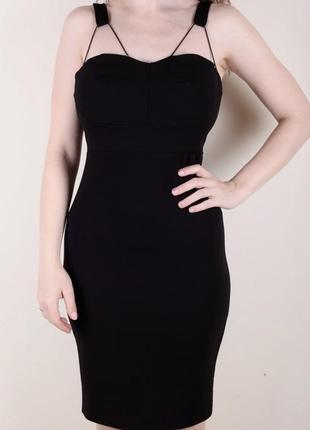 Чёрное платье секси стильное