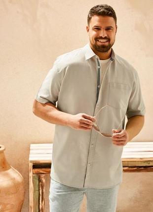 Рубашка льняная мужская большого размера 60-62 livergy германия