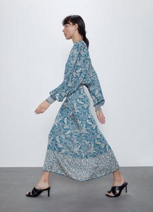 Шикарное жаккардовое макси платье zarа
