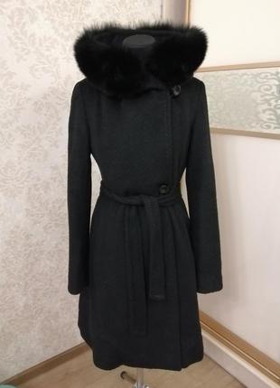 Шикарное пальто из шерсти ламы maxmara, италия