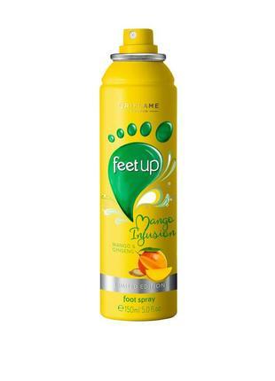 Освіжаючий спрей-дезодорант для ніг «манго і женьшень»