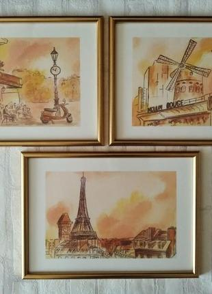 "Картины ""париж"", триптих"